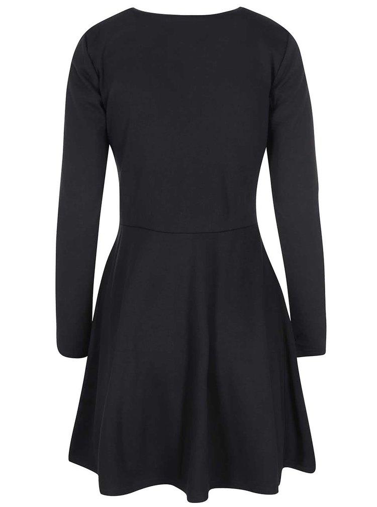 Černé šaty se zipem VILA Tinny