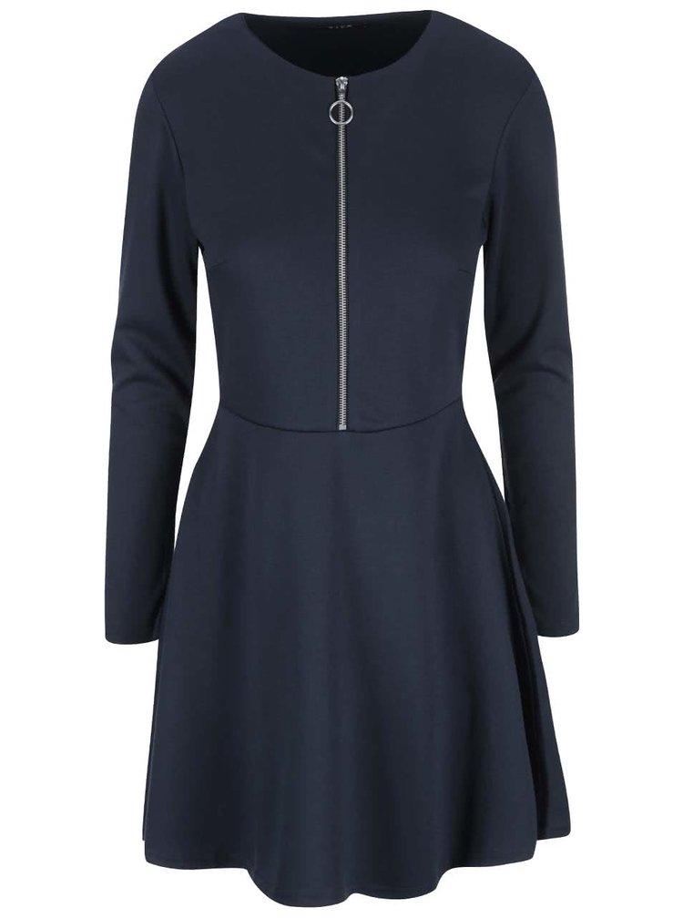 Tmavomodré šaty so zipsom VILA Tinny