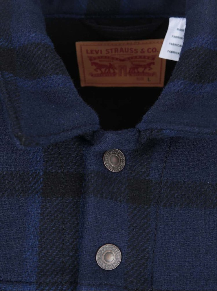 Jacheta barbateasca cu negru si albastru LEVI'S® Wool Trucker
