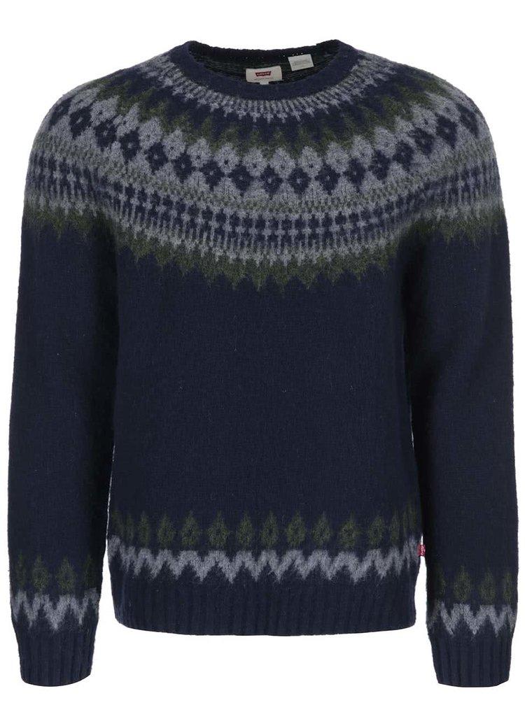 Modrý pánský vlněný svetr Levi's®
