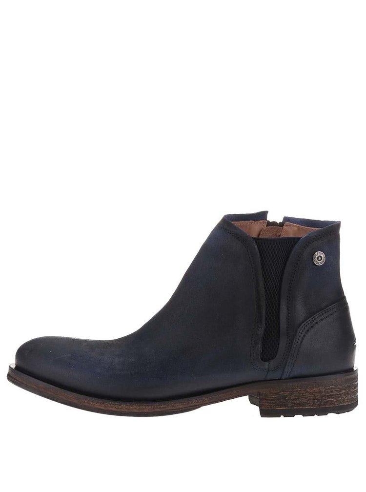 Tmavě modré kožené pánské kotníkové boty Tommy Hilfiger Dillan