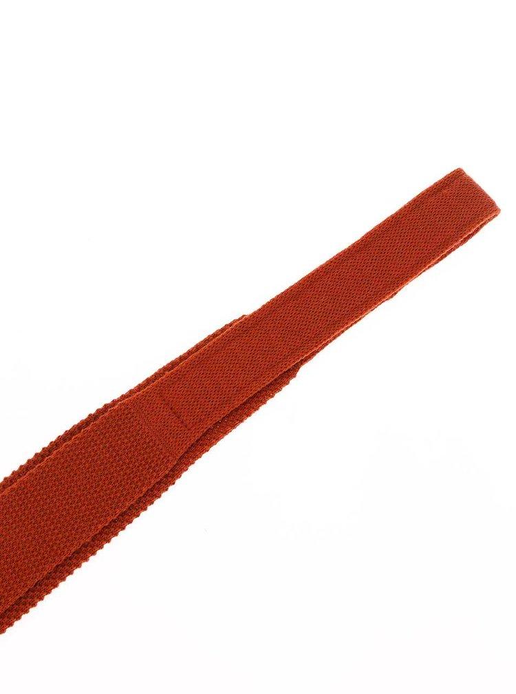 Cravată portocalie din lână Portia