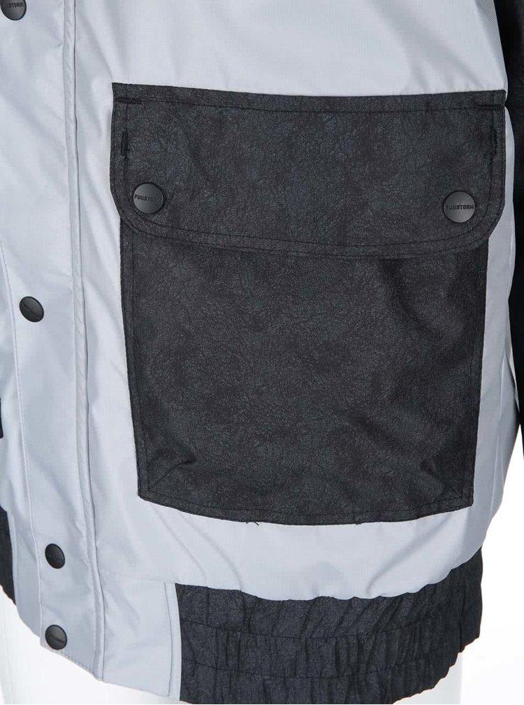 Čierno-sivá pánska bunda Funstorm Doan