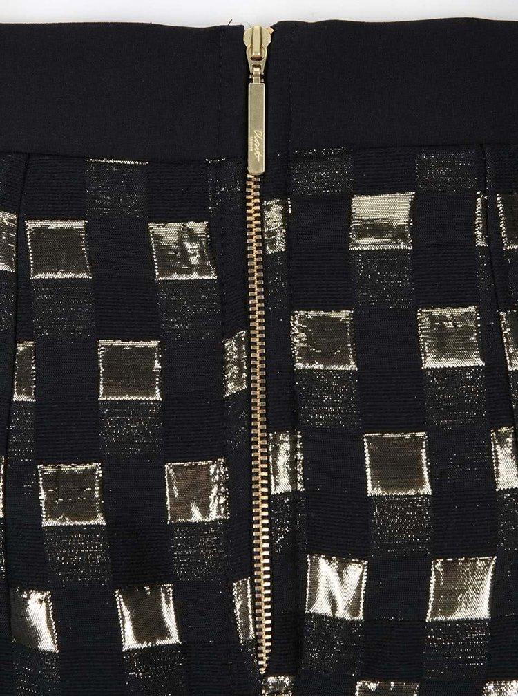 Fustă cu model în combinația negru și auriu de la Closet
