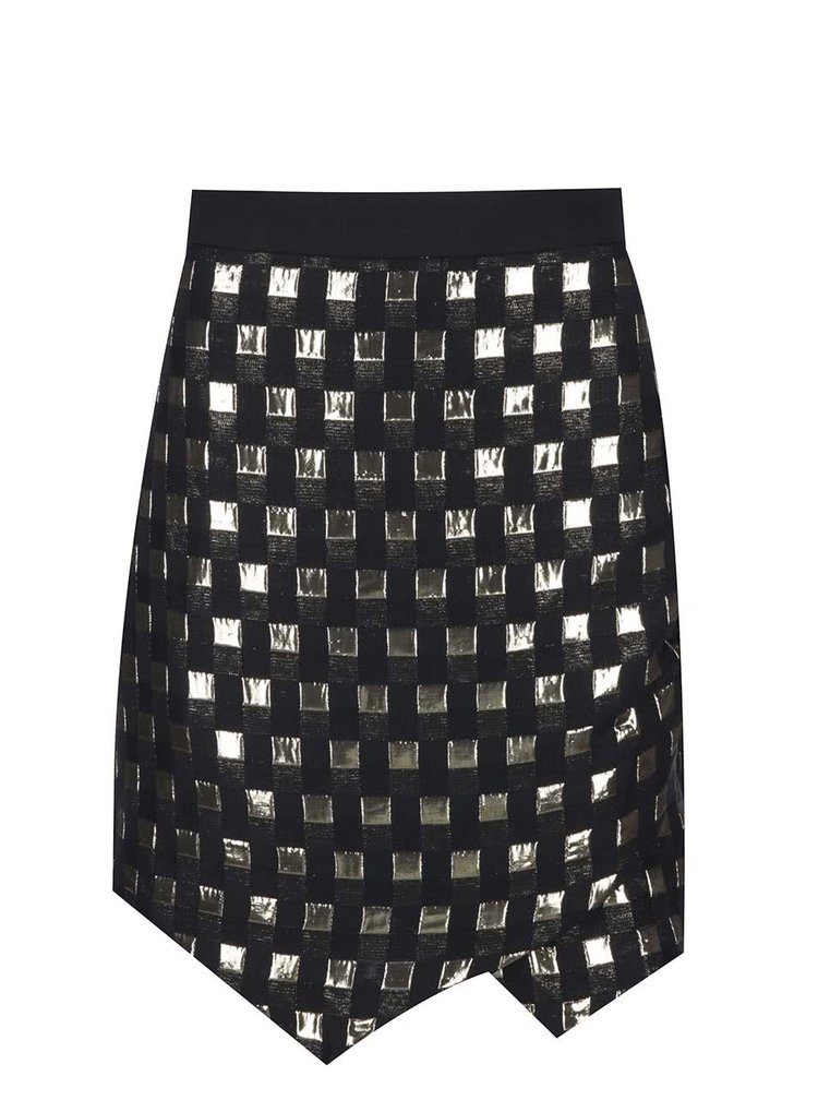 Černá sukně s detaily ve zlaté barvě Closet