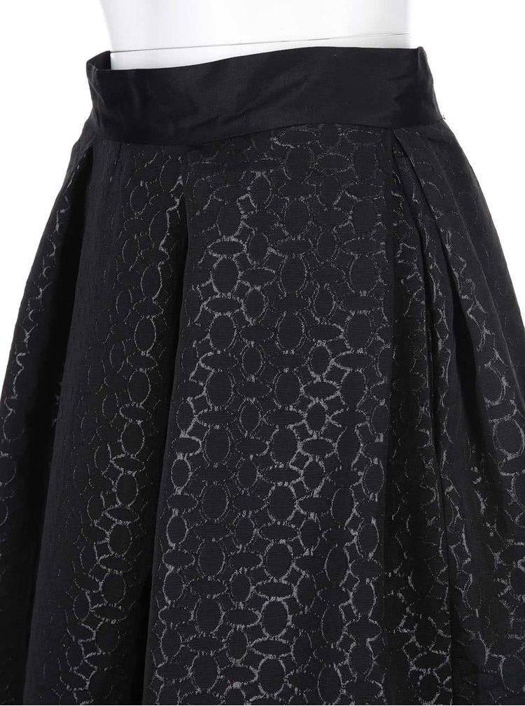 Černá vzorovaná midisukně Closet
