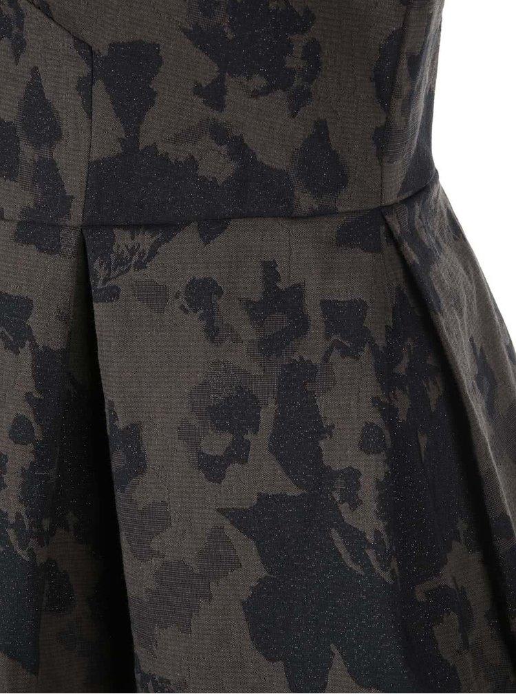 Rochie kaki cu imprimeu de camuflaj Closet