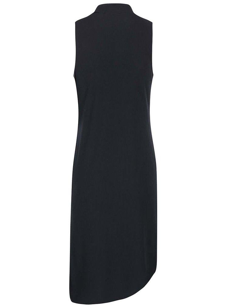 Černé asymetrické šaty bez rukávů SisterS Point Simon