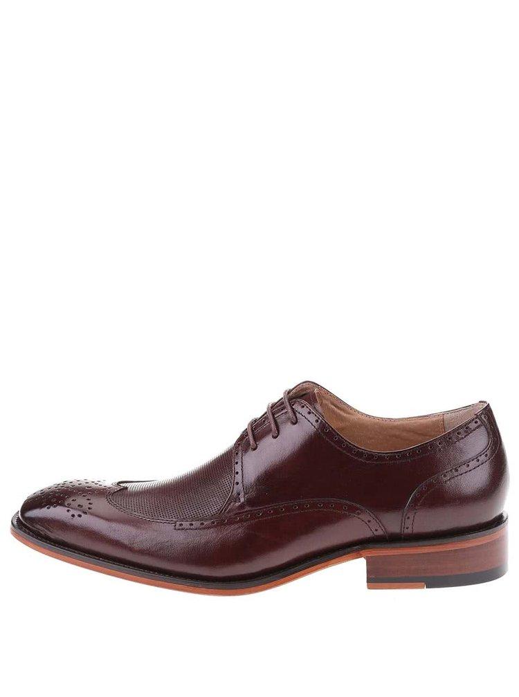 Pantofi Oxford din piele Dice Harris - visiniu