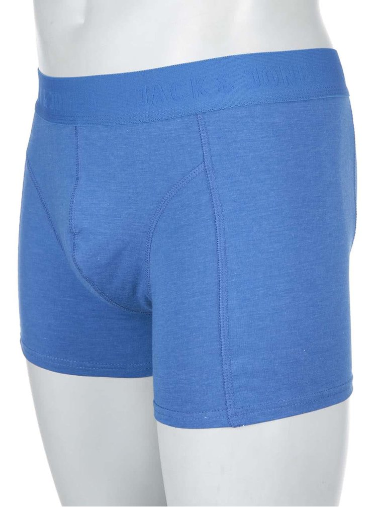 Modré boxerky Jack & Jones Melange