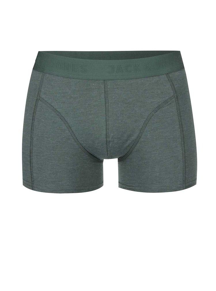 Zelené boxerky Jack & Jones Melange