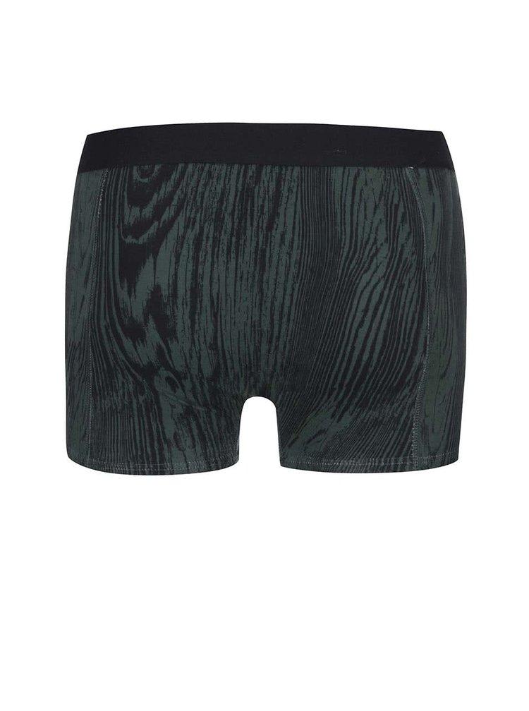 Zelené vzorované boxerky Jack & Jones Mountain