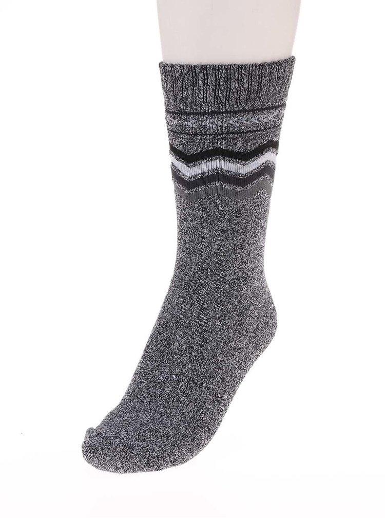 Sivé vzorované ponožky Jack & Jones Heavy