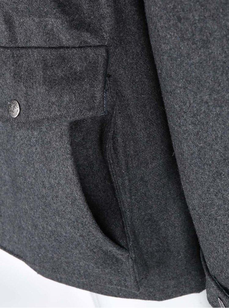 Sivá vlnená parka s kapucňou Element Hemlock Wool