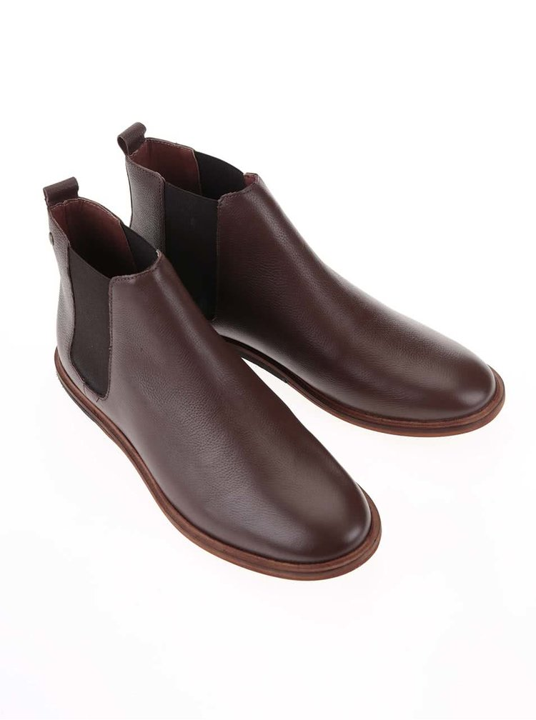 Hnědé kožené chelsea boty Frank Wright Burns
