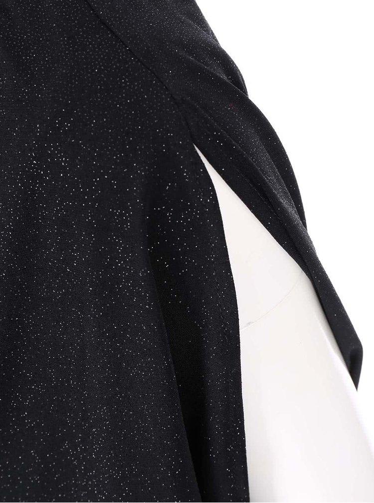 Černé šaty s nabíraným topem Dorothy Perkins