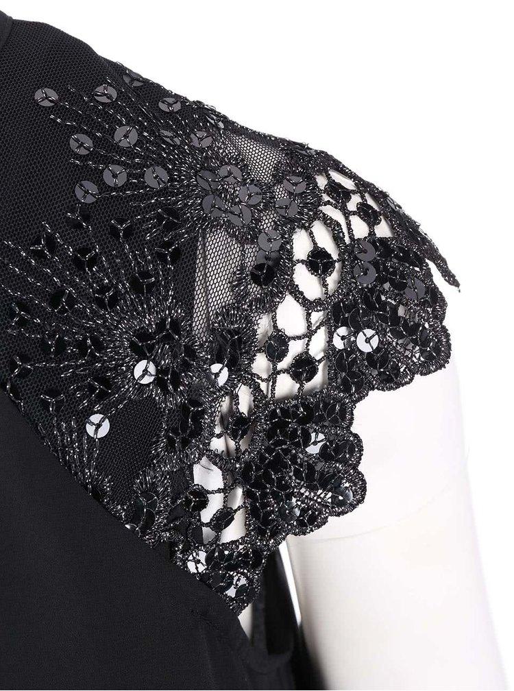 Černá halenka se zdobenými rukávy Dorothy Perkins