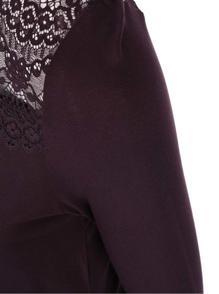 Fialový top s krajkovanými detaily Dorothy Perkins