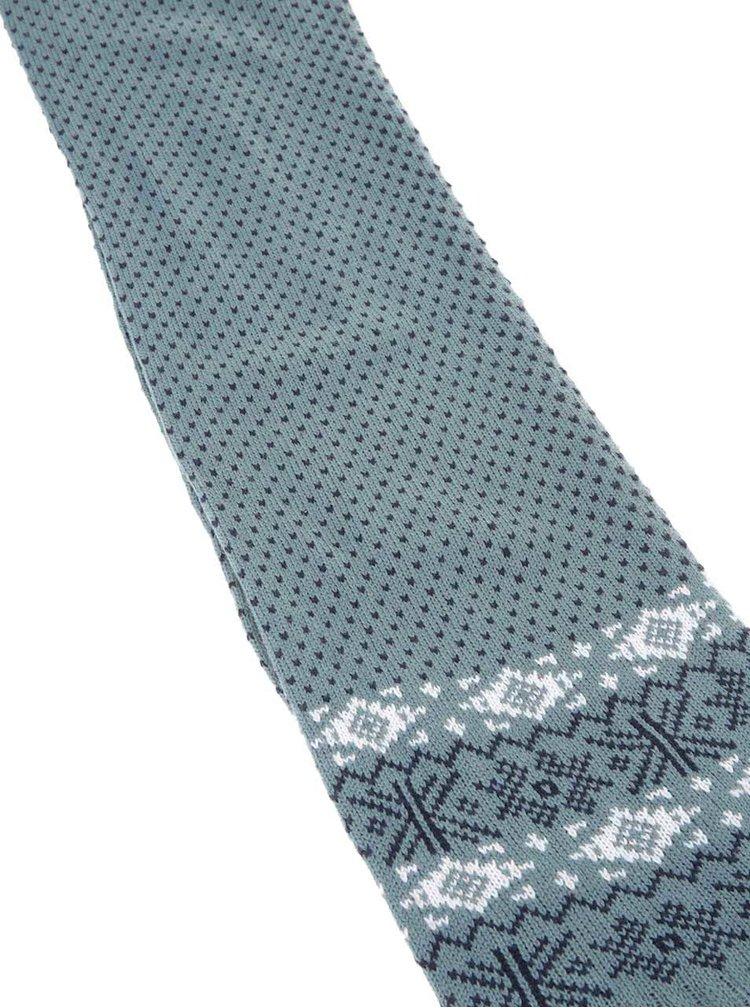 Modrosivá vzorovaná šatka Brakeburn Fairisle
