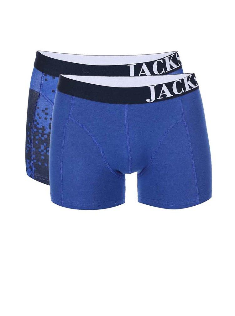 Kolekcia dvoch modrých boxeriek Jacks