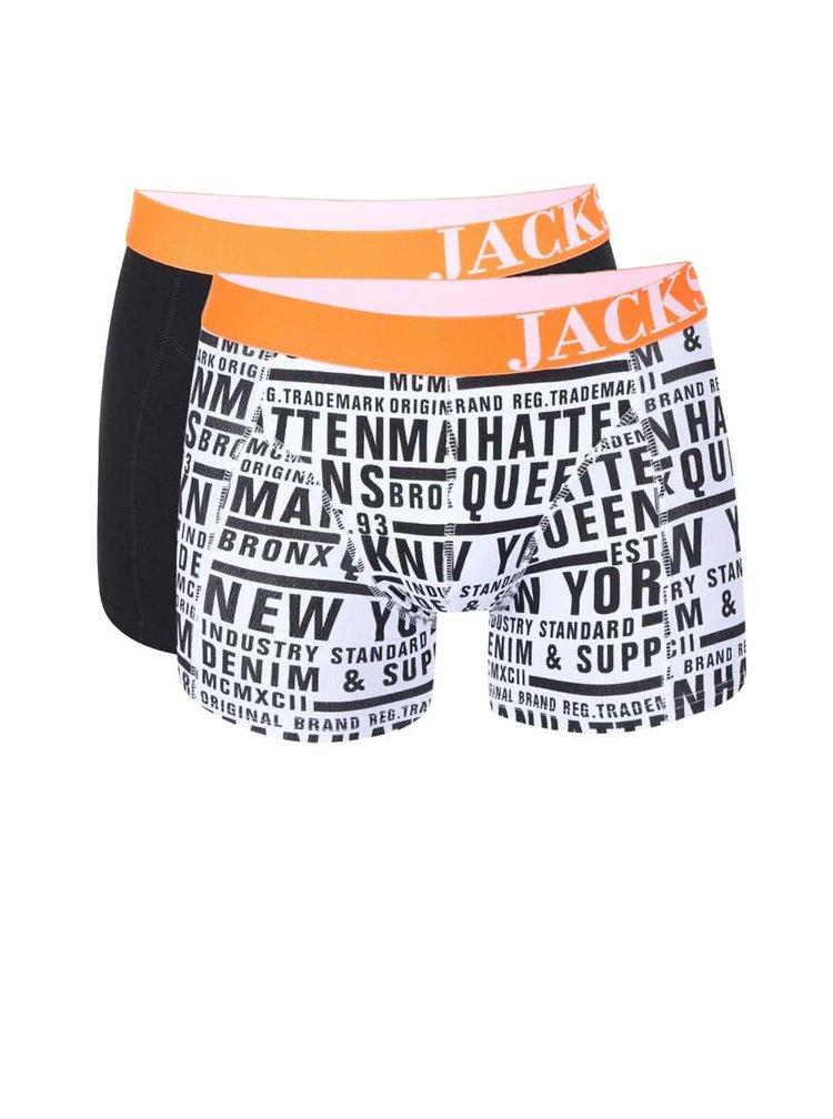 Kolekcia dvoch boxeriek s oranžovým lemom Jacks