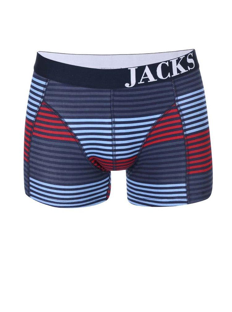 Kolekcia dvoch červených a pruhovaných boxeriek Jacks