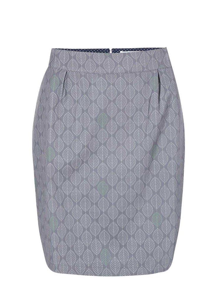 Sivá sukňa so vzorom lístia Brakeburn Harbour Tile