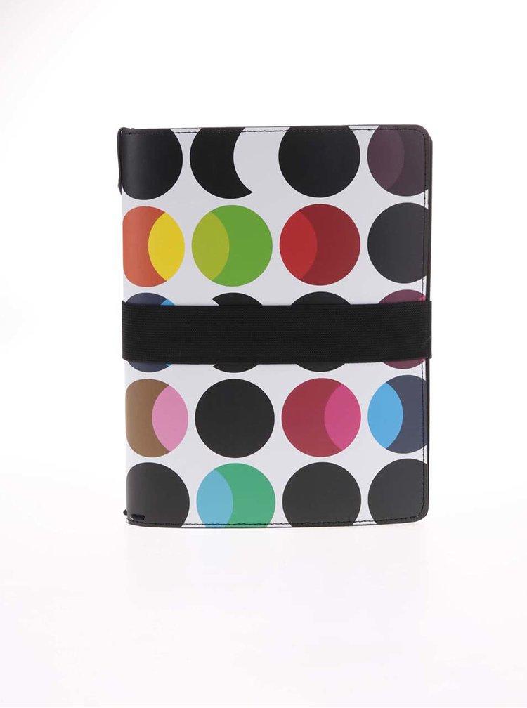Bílý organizér na recepty s barevnými puntíky Remember Dots