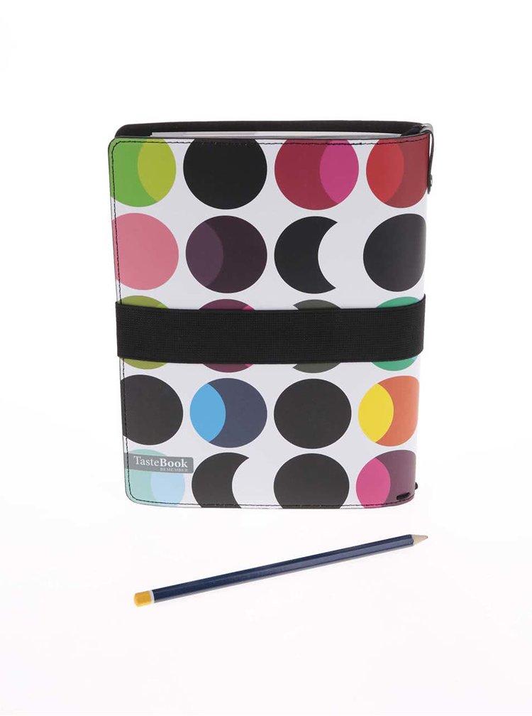Organizator pentru retete colorat cu buline REMEMBER Dots