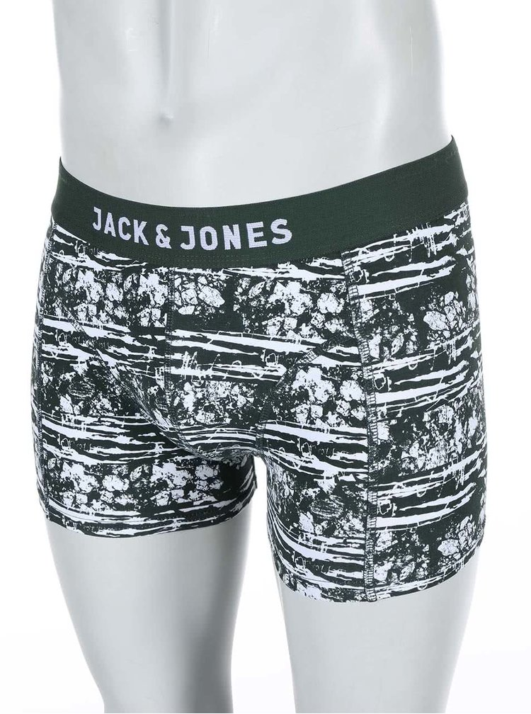 Zelené boxerky s bielym vzorom Jack & Jones Mountain