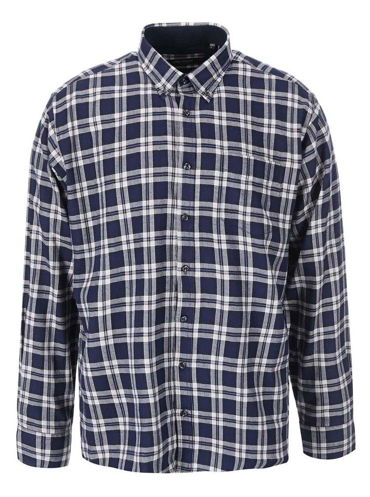 Tmavě modrá kostkovaná košile Jacks