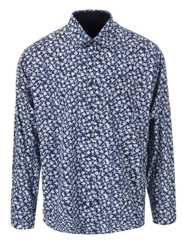 Modrá košile s květinovým potiskem Jacks