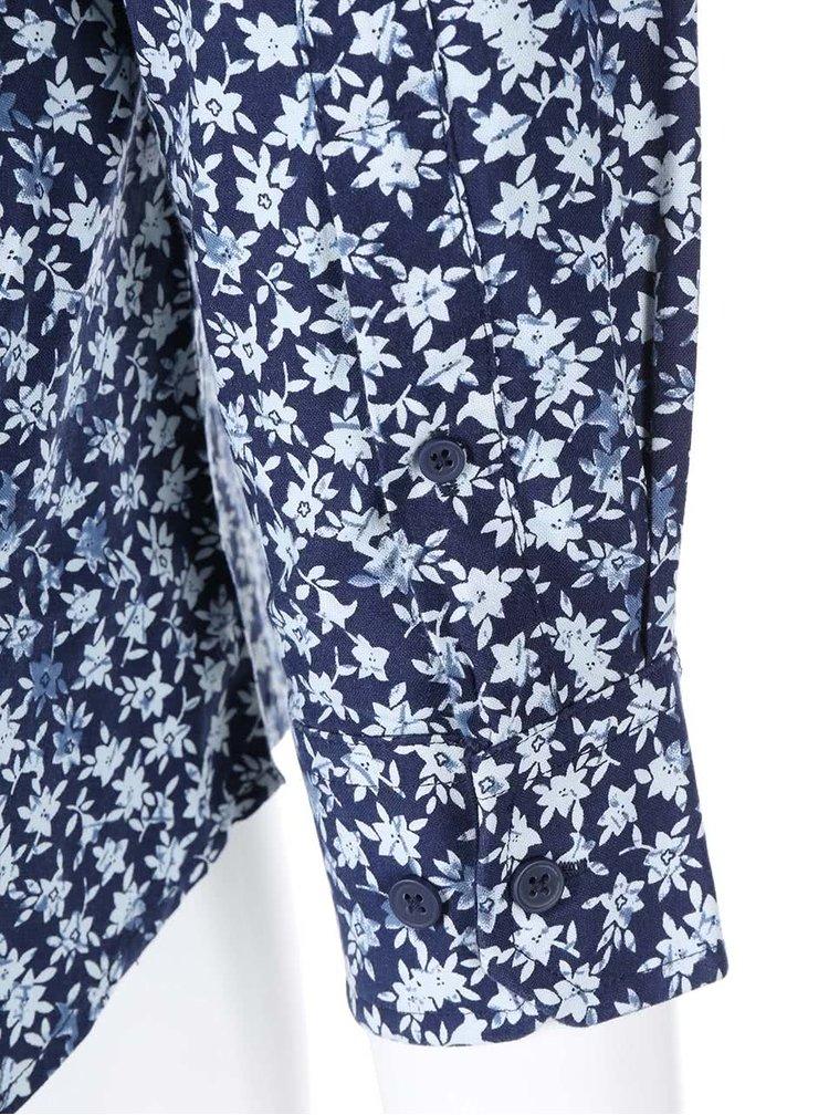 Modrá košeľa s kvetinovou potlačou Jacks