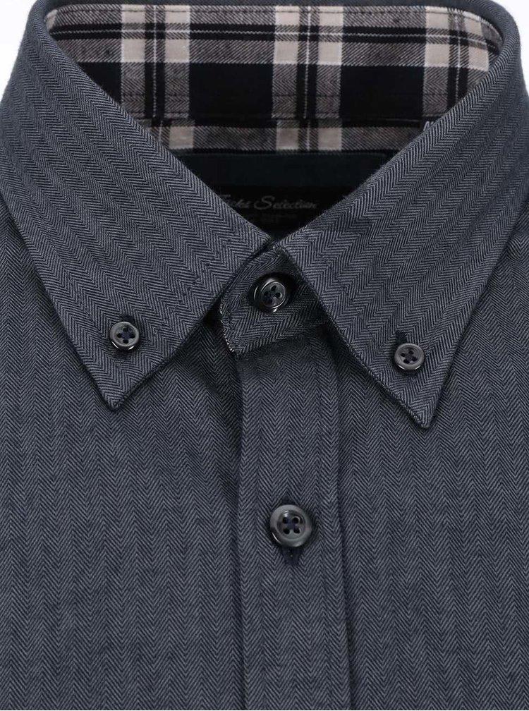 Tmavě šedá košile Jacks
