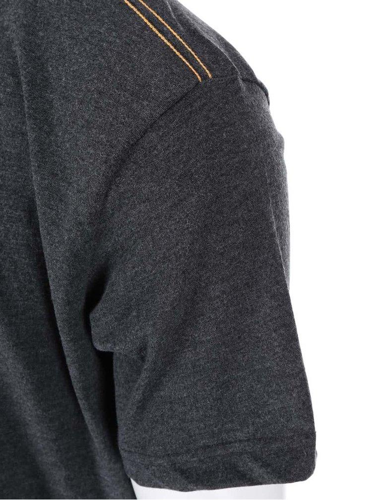 Tmavosivé žíhané tričko Jacks