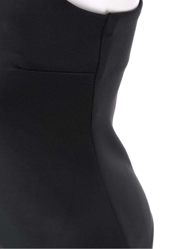 Černé šaty se spojovaným výstřihem AX Paris