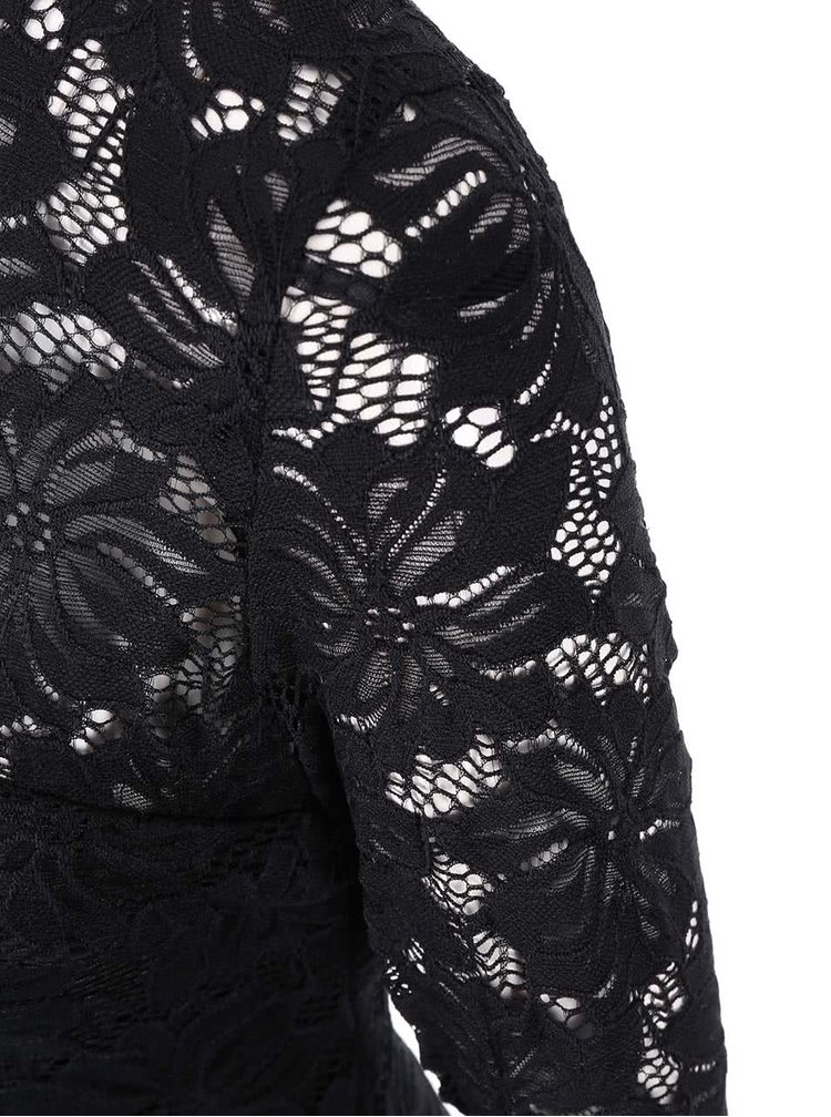 Rochie neagra din dantela cu maneci lungi AX Paris