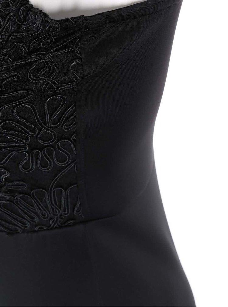 Černé šaty na ramínka se zdobeným topem AX Paris