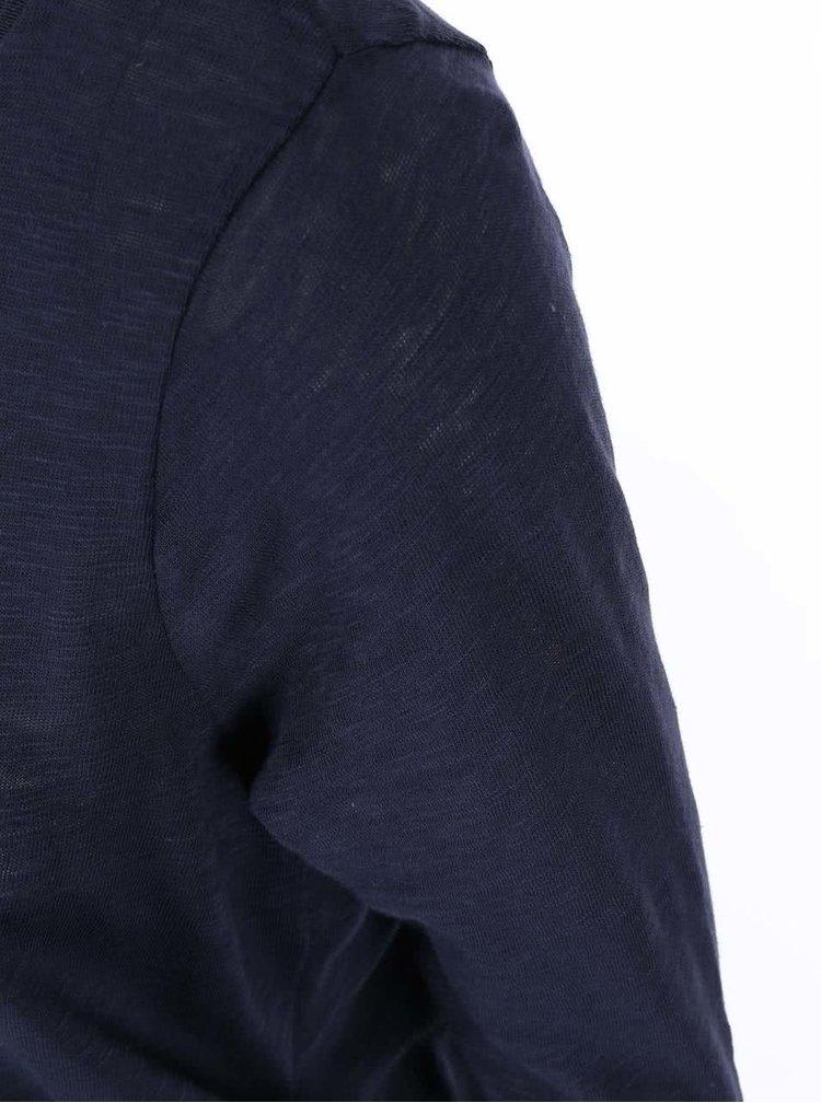 Tmavě modrý top s 3/4 rukávem ONLY Casa