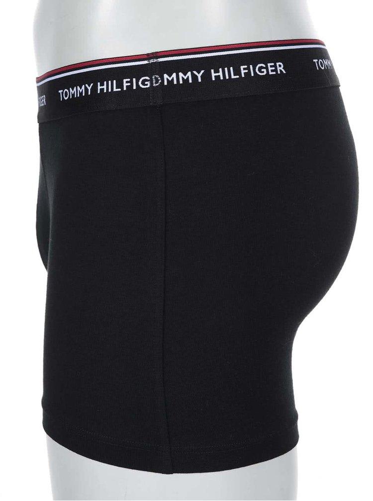 Set de 3 boxeri Tommy Hilfiger negru-alb-gri