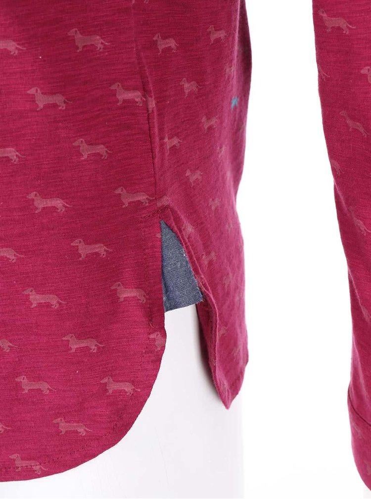 Vínové tričko s dlouhým rukávem Brakeburn Sausage Dog