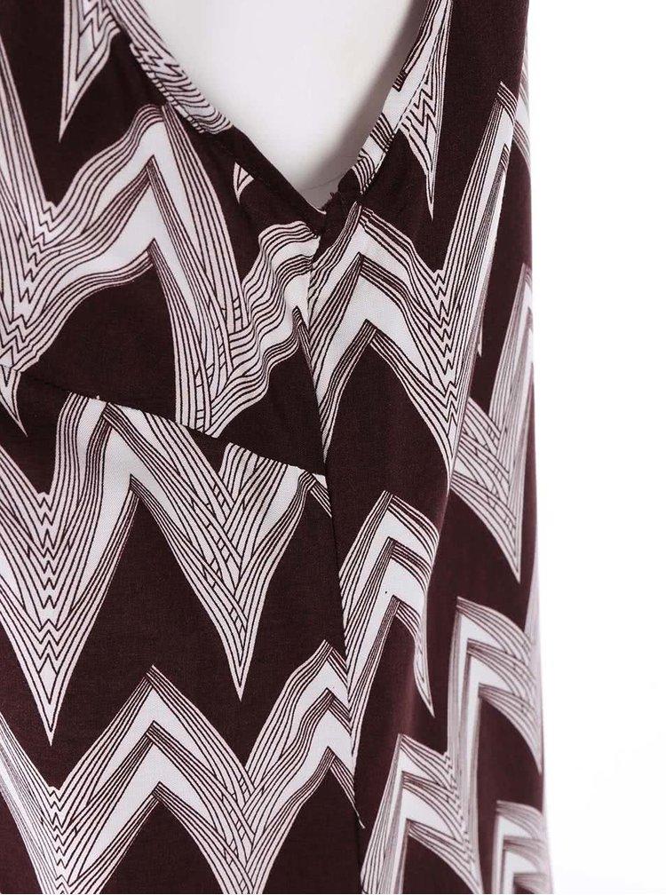 Barevná vzorovaná košile bez rukávů VERO MODA Liv