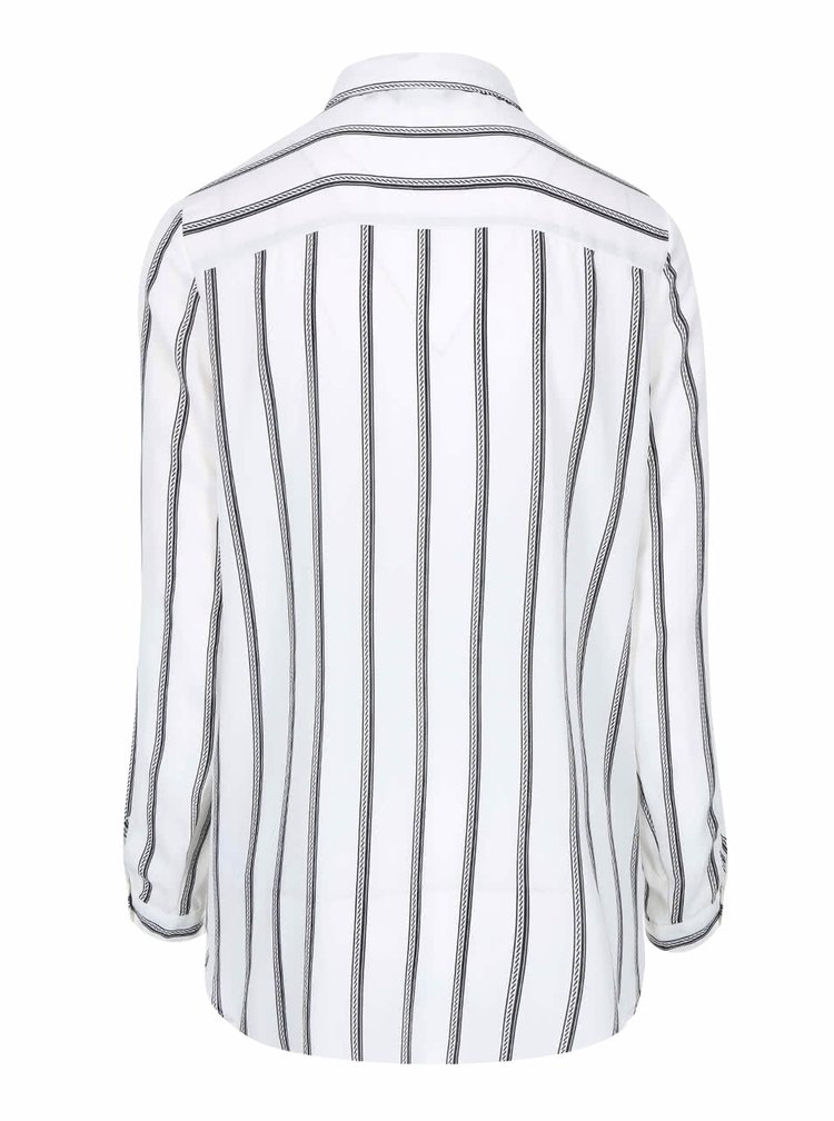 Čierno-biela košeľa s dlhým rukávom New Look