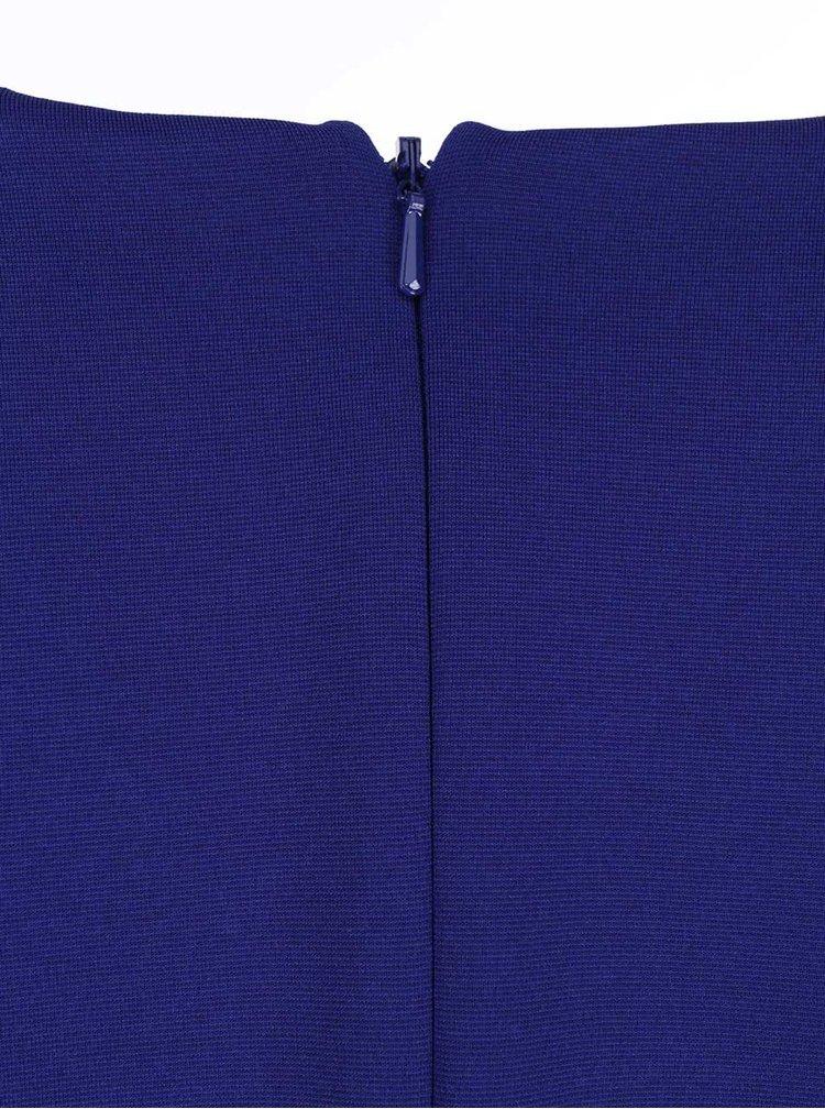 Modré šaty s krajkovými rukávy Little Mistress