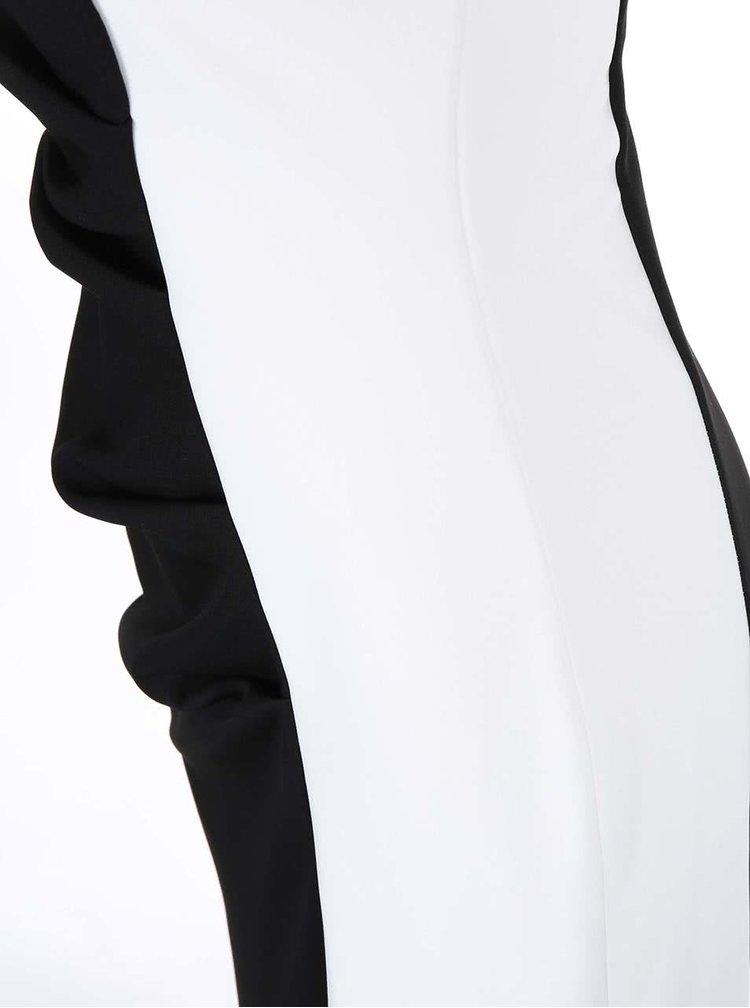 Bílo-černé maxišaty Lipstick Boutique Deelia