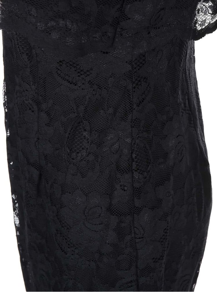 Čierne šaty s čipkou Lipstick Boutique Lucinda