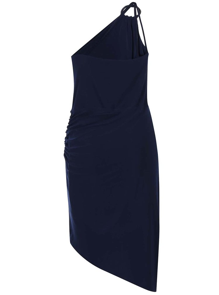 Tmavě modré šaty přes rameno Lipstick Boutique Perry