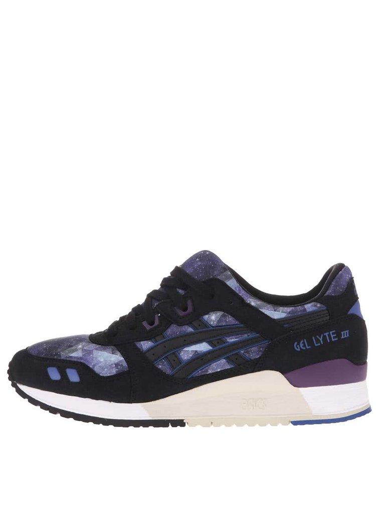 Černo-fialové dámské tenisky s detaily ASICS Gel Lyte III