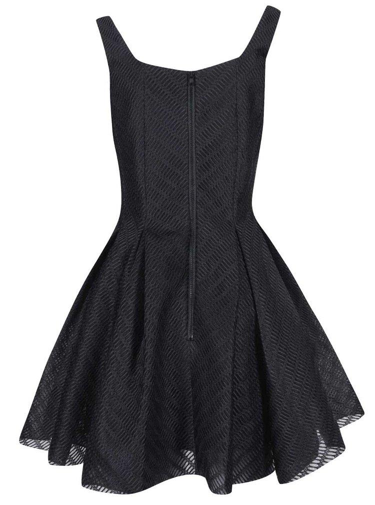 Rochie neagră din material texturat GODDIVA