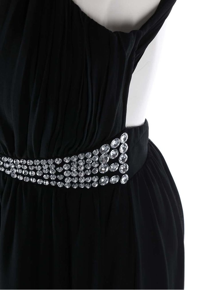Černé šifonové šaty Goddiva